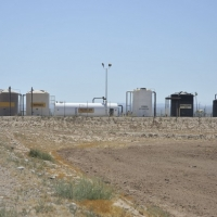 Solution storage tanks from the BHP operations