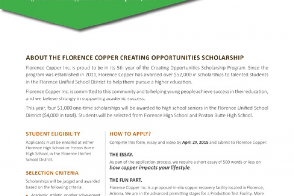Attention high school seniors in the Florence Unified School District!