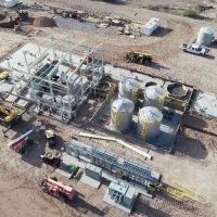 Construction of the SX/EW Copper Processing Plant (April 17, 2018)